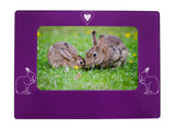 "Purple Rabbit 4"" x 6"" Magnetic Photo Frame (Horizontal/Landscape)"