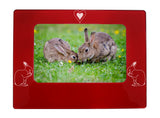 "Red Rabbit 4"" x 6"" Magnetic Photo Frame (Horizontal/Landscape)"