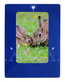 "Blue Rabbit 4"" x 6"" Magnetic Photo Frame (Vertical/Portrait)"