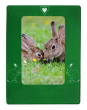 "Green Rabbit 4"" x 6"" Magnetic Photo Frame (Vertical/Portrait)"