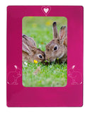 "Pink Rabbit 4"" x 6"" Magnetic Photo Frame (Vertical/Portrait)"