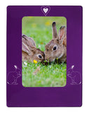 "Purple Rabbit 4"" x 6"" Magnetic Photo Frame (Vertical/Portrait)"