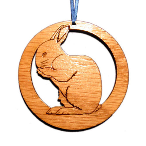 4 inch Rabbit Laser-etched Ornament