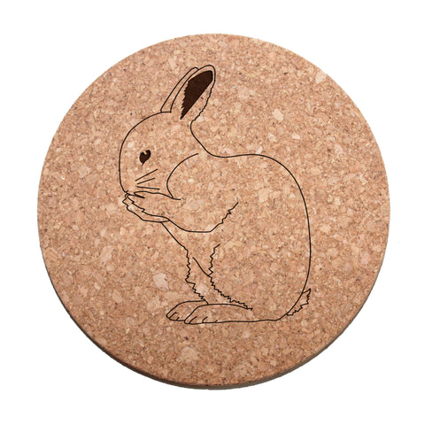 Rabbit Cork Trivet