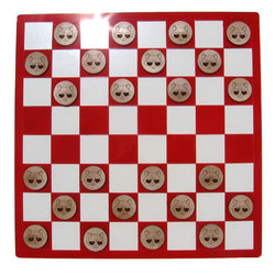 Fancy Racoon Checkers Set