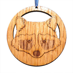 4 inch Raccoon Laser-etched Ornament