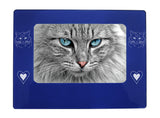 "Blue Ragdoll Cat 4"" x 6"" Magnetic Photo Frame (Horizontal/Landscape)"