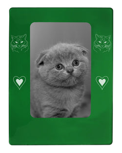 "Green Ragdoll Cat 4"" x 6"" Magnetic Photo Frame (Vertical/Portrait)"