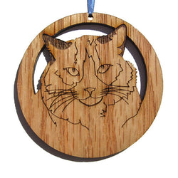 4 inch Ragdoll Cat Laser-etched Ornament