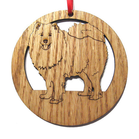 4 inch Samoyed Laser-etched Ornament