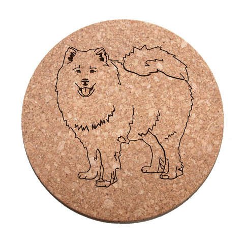 Samoyed Cork Trivet