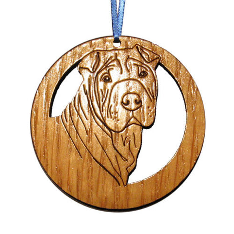 4 inch Shar-Pei Dog Laser-etched Ornament