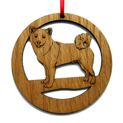 4 inch Shiba Inu Laser-etched Ornament