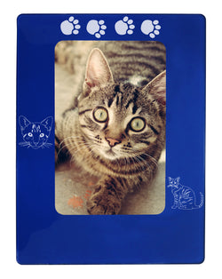 "Blue Tabby Cat 4"" x 6"" Magnetic Photo Frame (Vertical/Portrait)"