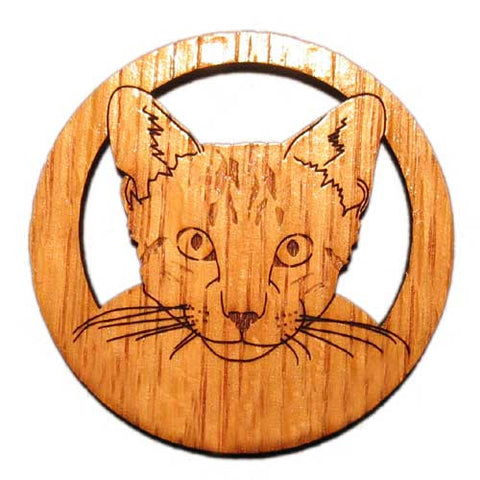 2.5 inch Tabby Cat Face Magnet
