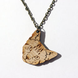 Laser-cut Goldfish Necklace