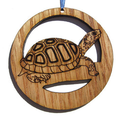 4 inch Tortoise Laser-etched Ornament