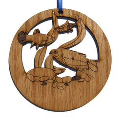 4 inch Tropical Fish Laser-etched Ornament