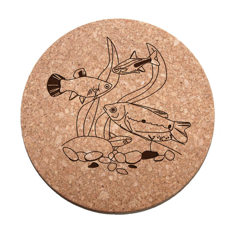 Tropical Fish Cork Trivet