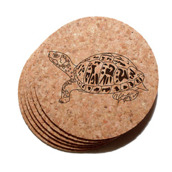 4 inch Turtle Cork Coaster Set of 6