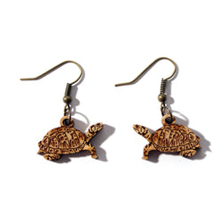 Laser-cut Turtle Earrings