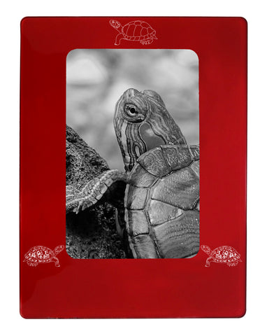 "Red Turtle 4"" x 6"" Magnetic Photo Frame (Vertical/Portrait)"