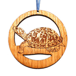 4 inch Turtle Laser-etched Ornament