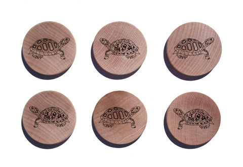 Turtle Maple Magnet Set of 6