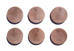 Whippet Maple Magnet Set of 6