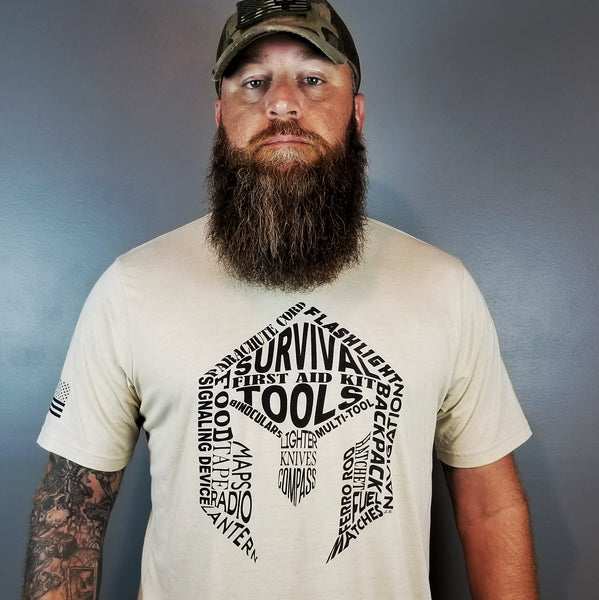 BattlBox Survival Tools Shirt - Designed by Josh Bergeron