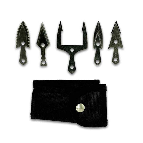 Mykel Hawke Arrowhead Set with Carrying Case