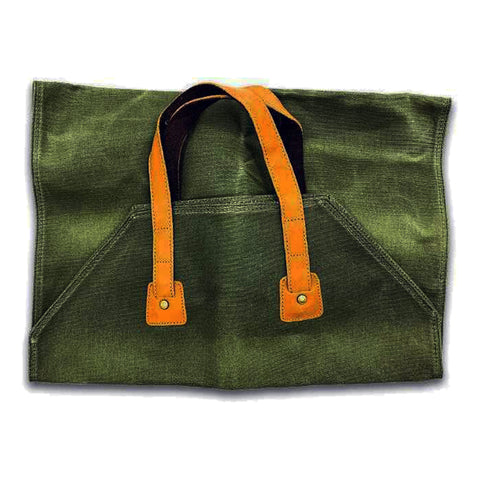 Waxed Canvas Rugged Twill Log Carrier 2