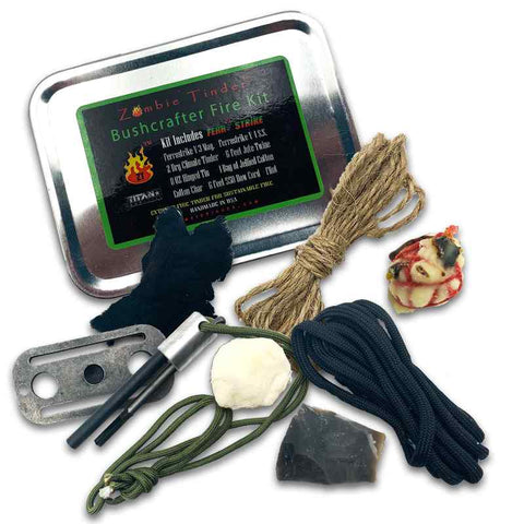 Zombie Tinder Bushcrafter Fire Kit - Made in USA 1
