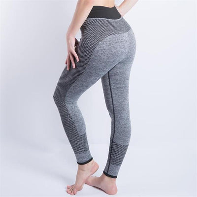 High Waisted Active Leggings Gray