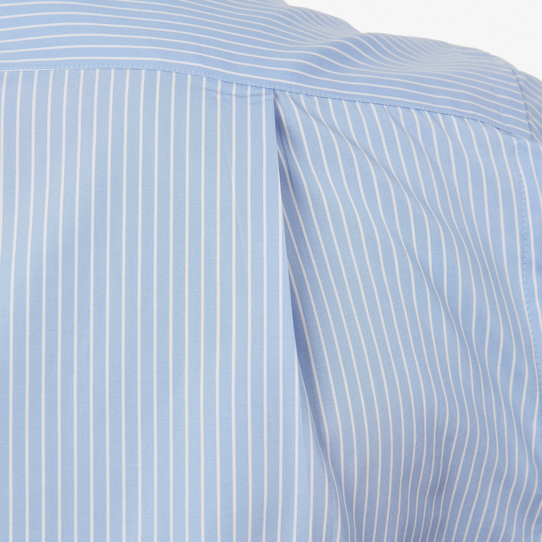 Button Down Poplin Shirt Sky Blue Reverse Stripe