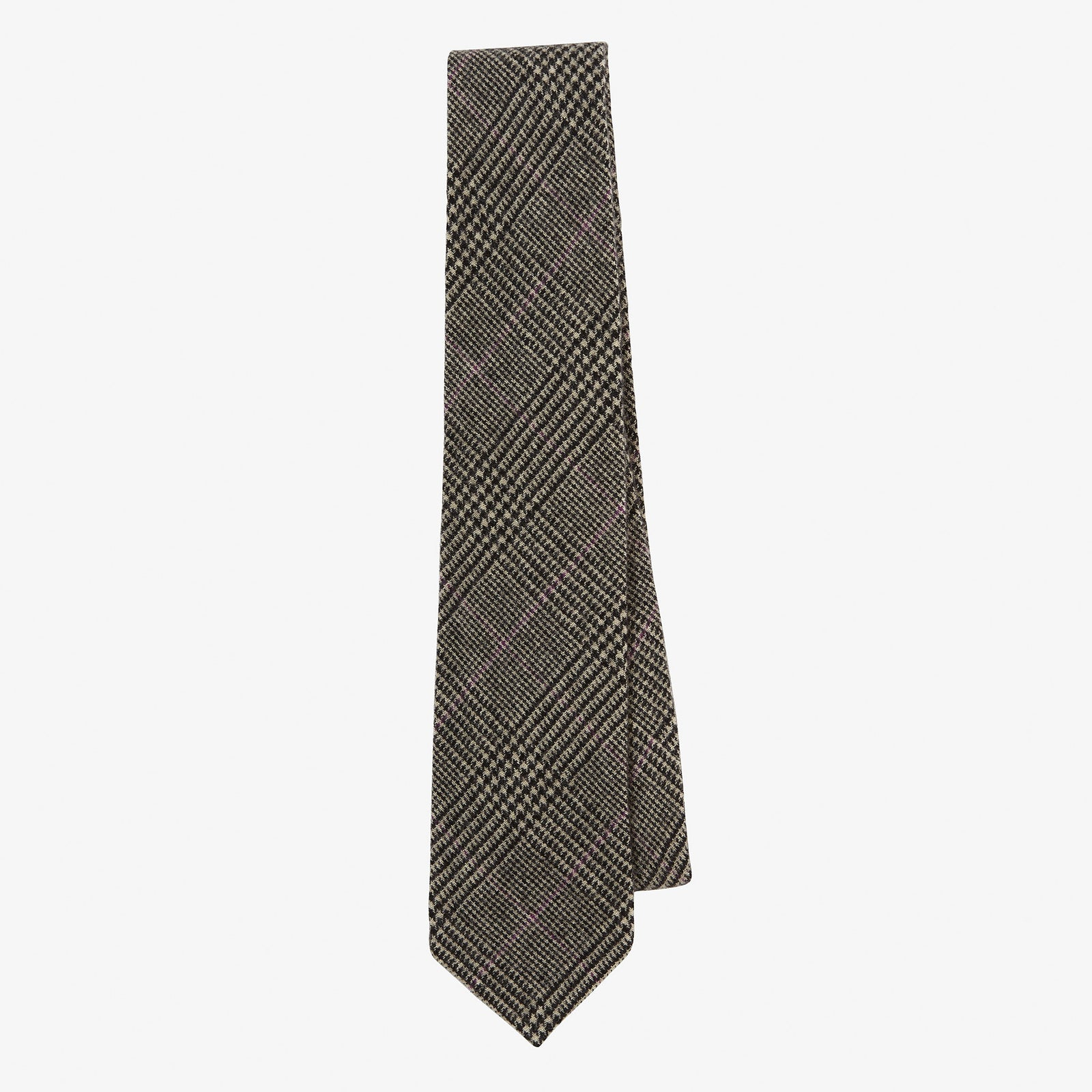Cashmere Tie Glen Plaid Mauve Overcheck
