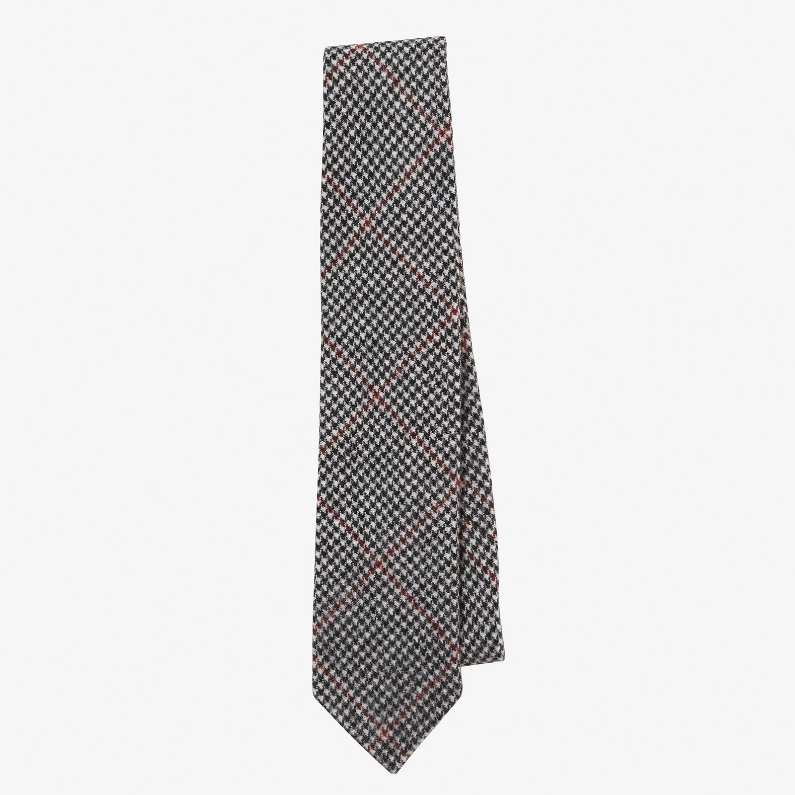 Cashmere Tie Houndstooth Red Overcheck