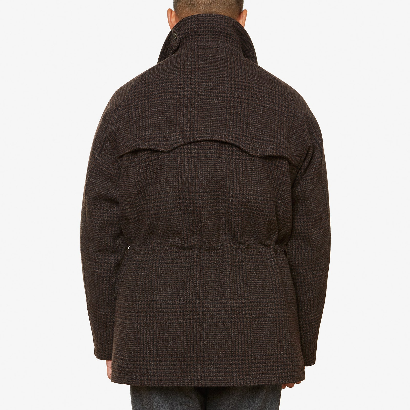Country Coat Brown Glen Plaid