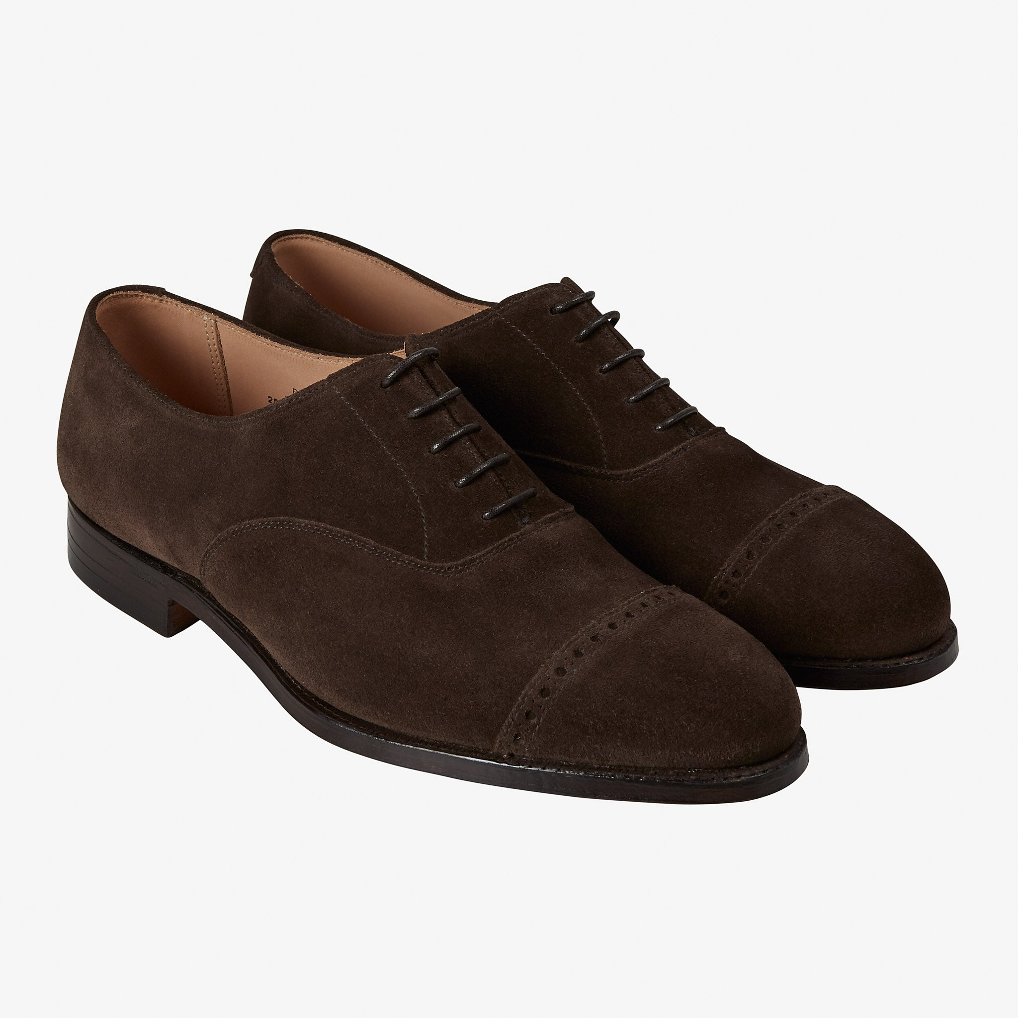 Crockett & Jones for Anglo-Italian Burlington Oxford Dark Brown Suede