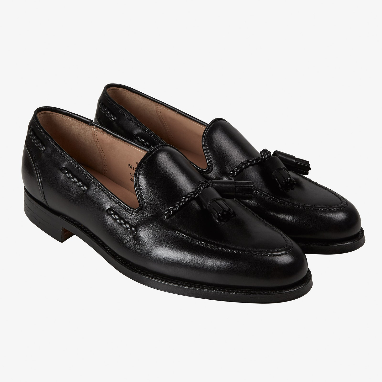 Crockett & Jones for Anglo-Italian Studridge Loafer Black Calf