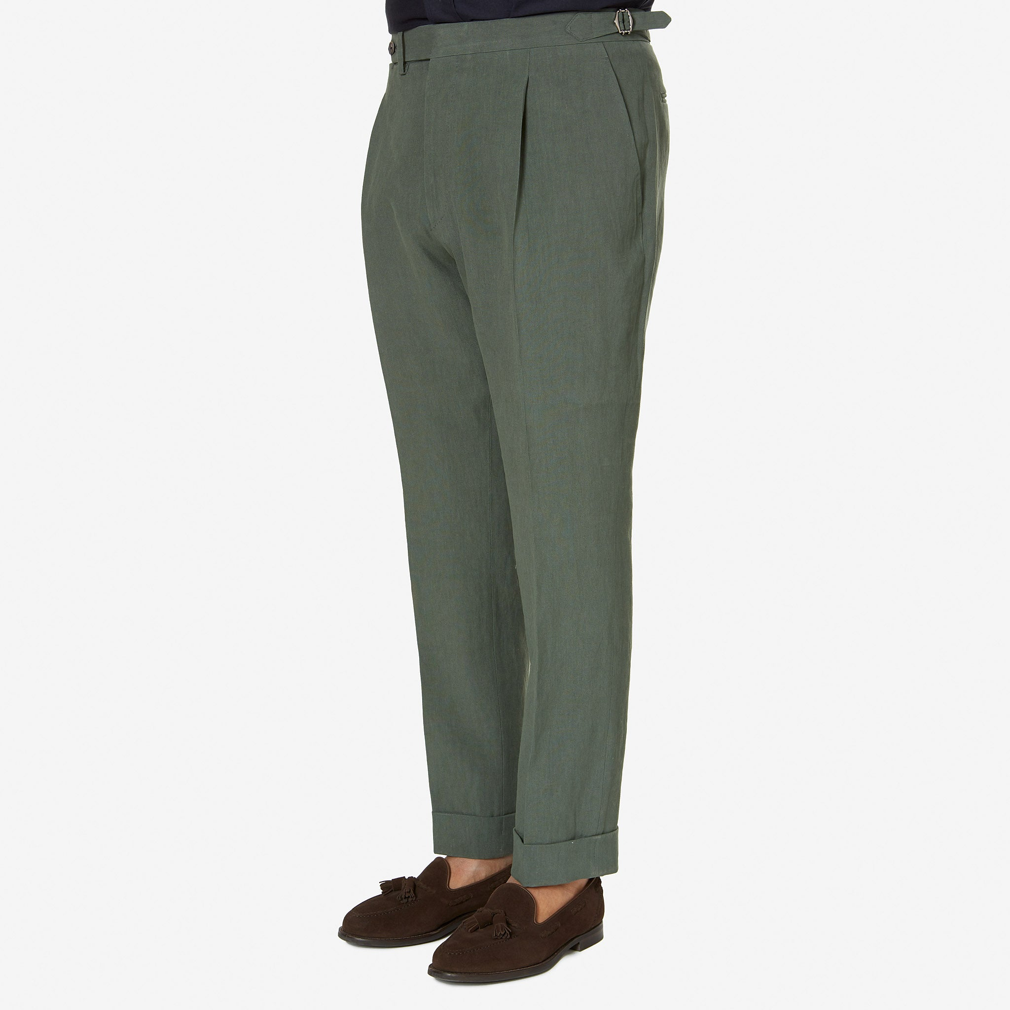 Tailored Trouser Twisted Linen Green