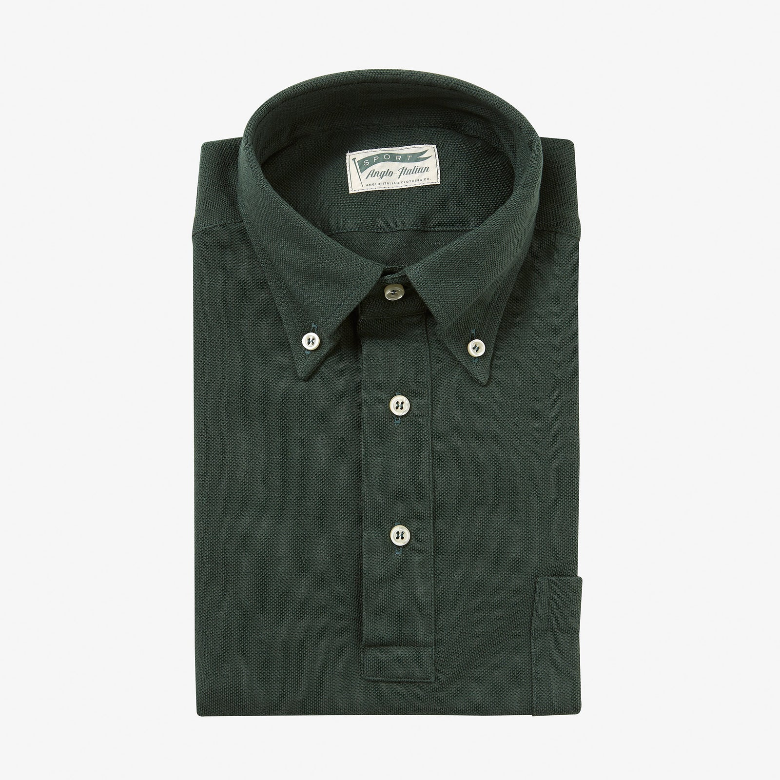 Polo Shirt Long Sleeve Green