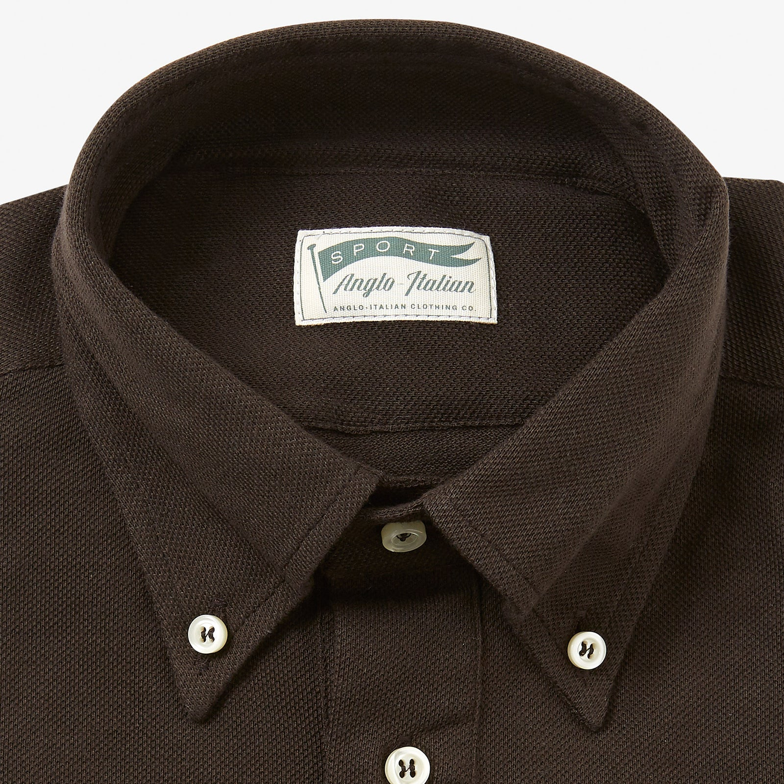 Polo Shirt Long Sleeve Brown