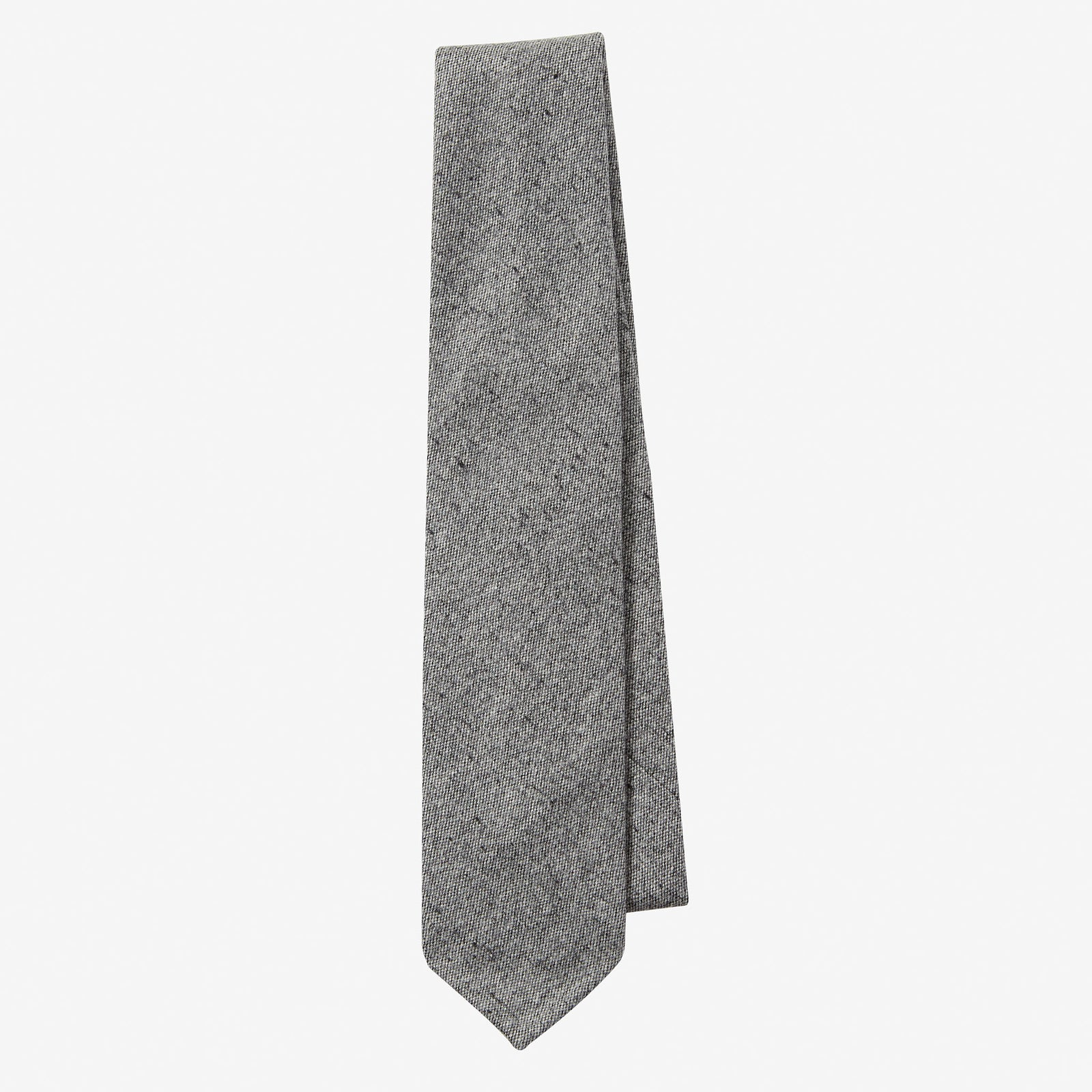 Cashmere Tie Light Grey Donegal