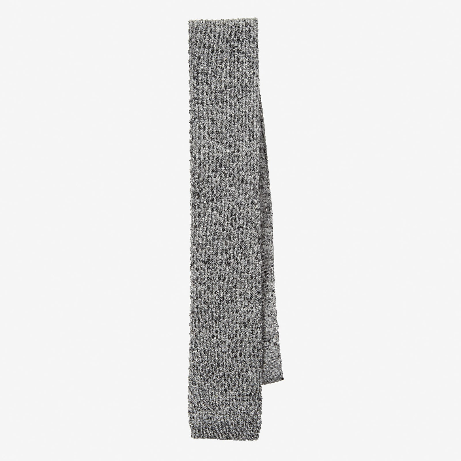 Knit Tie Wool Donegal Light Grey