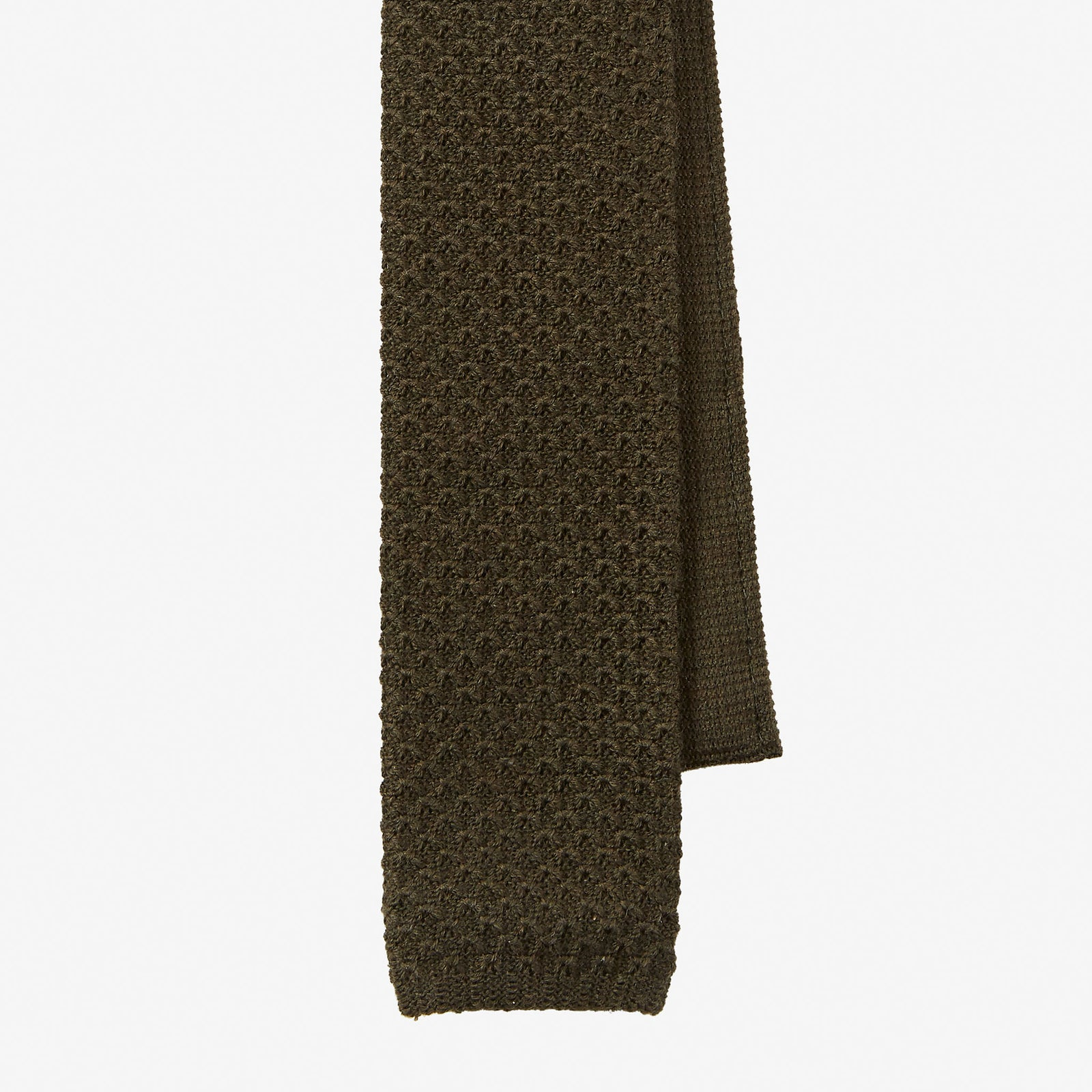 Knit Tie Wool Green