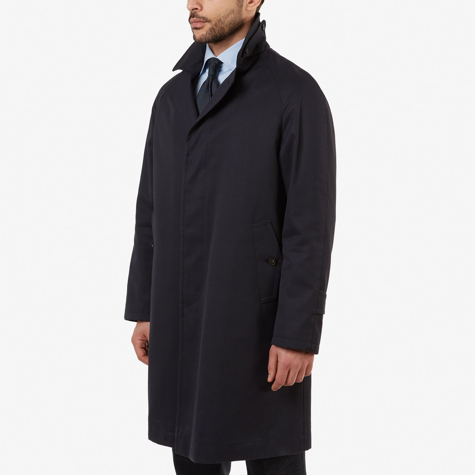 Balmacaan Coat Navy