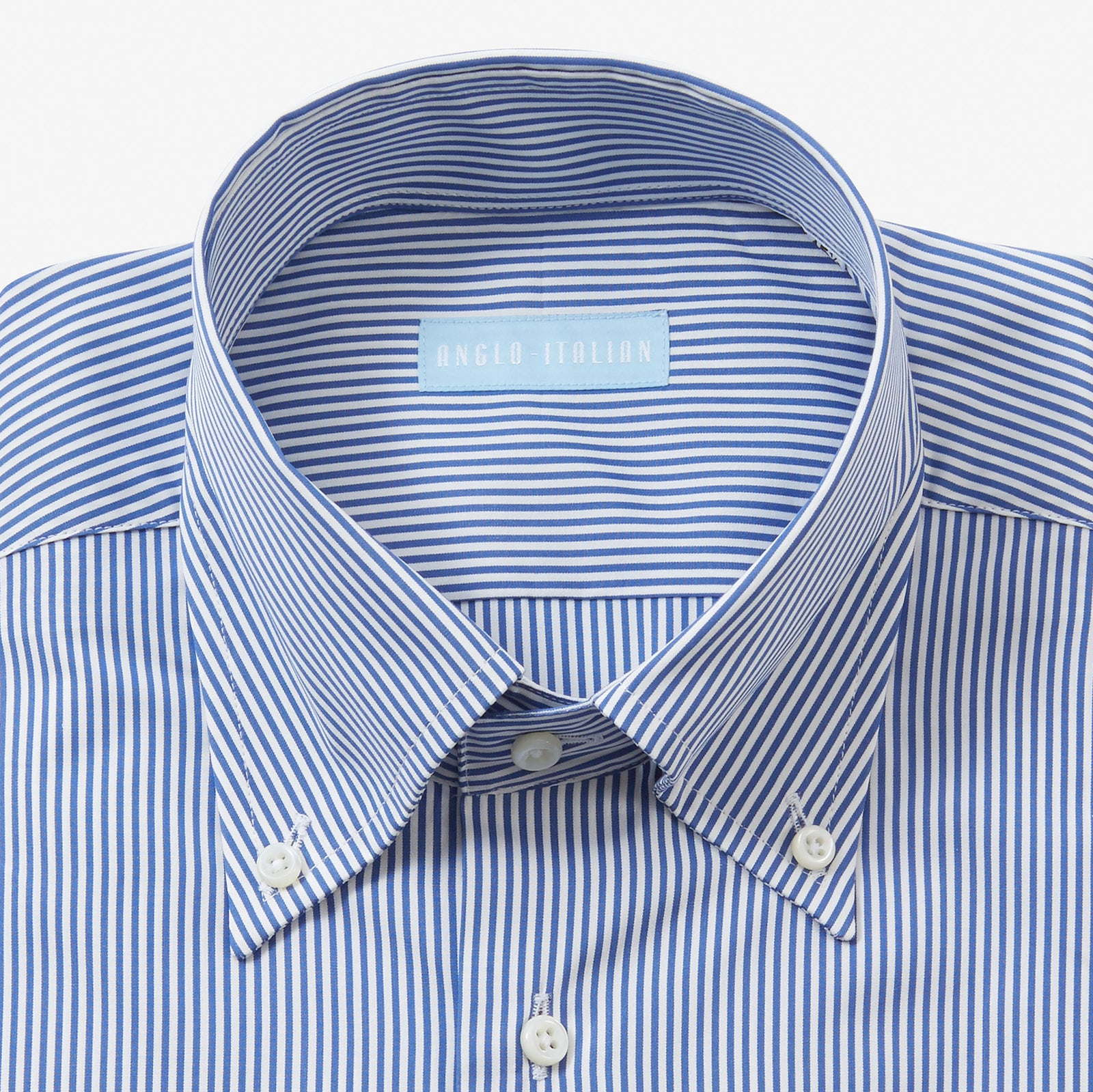 Button Down Poplin Shirt Navy Bengal Stripe