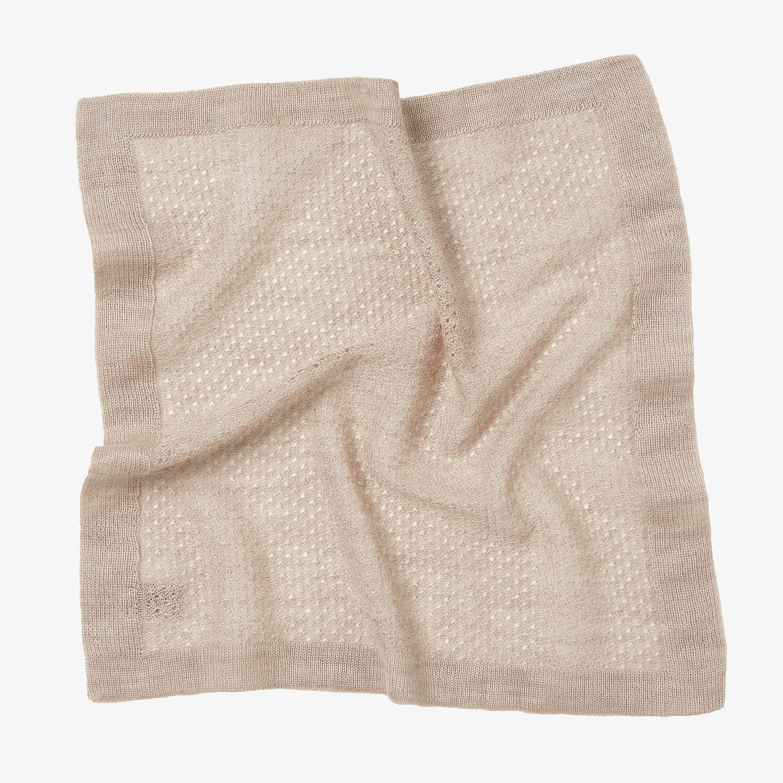 Pocket Square Cashmere Wool Knit Stone