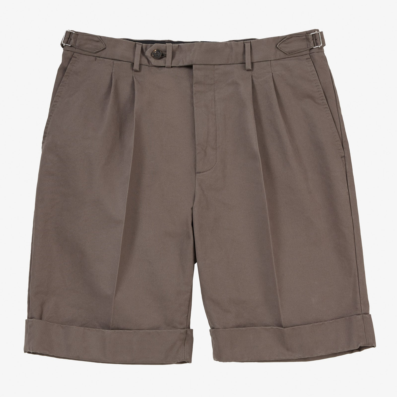Garment Washed Cotton Shorts Tobacco